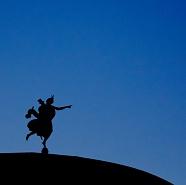 Faenza in silhouette