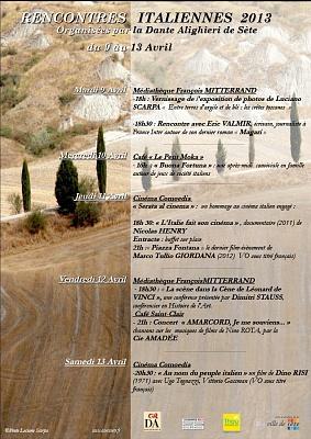 Entre terre d'argile et de ble: les cretes toscanes  Séte (Francia)  9- 14- aprile 2013